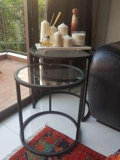 🚚 Two Glass nesting side tables