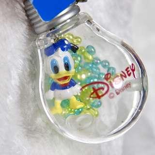 迪士尼 正版商品 Disney 唐老鴨 Donald Duck 燈泡造型 吊飾 鑰匙圈 珠珠 小珠 創意 可愛 燈膽