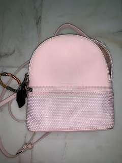 🚚 Charles and Keith Light Pink Backpack