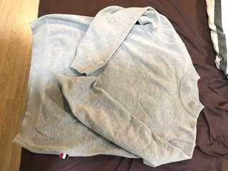 🚚 韓國 針織上衣 毛衣 約M號 淺灰色