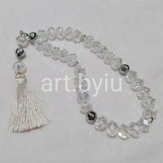 Tasbih crystal clear beads