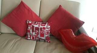 All 4 red cushions