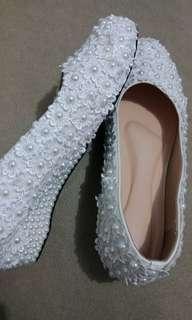 Sepatu Nikah putih ukuran besar, Wedding Shoes bigsize ukuran 44