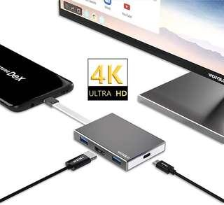 🚚 USB Type C to HDMI Adapter for Nintendo Switch,Samsung Galaxy S8/S8 Plus/Note 8 and MacBook Pro,Wofalodata HDMI & USB 3.0 & Power Delivery Portable Multifunctional Hub Converter