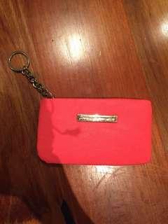 Colette bright orange coins holder/wallet