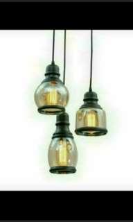 Hanging Light Pendant Light 3 Light Glass