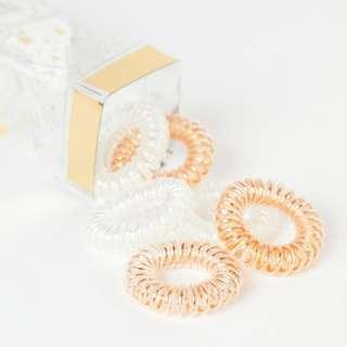 invisibobble ORIGINAL Hair Tie – Bronze Me Pretty / Holographic White