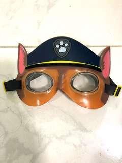 Paw Patrol Chase Nickelodeon super soft watertight sealed swim goggles