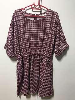🚚 BN Plus size maroon dress (uk 14-16)