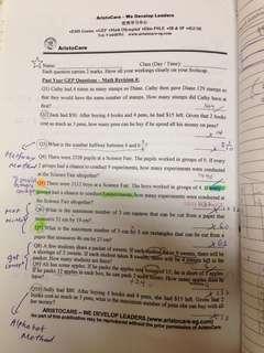 P3 GEP Math revision Aristocare