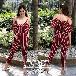 Elise Stripes Jumpsuit