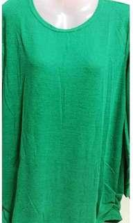 Plain Loose Knitted Top - GREEN