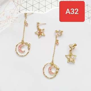Cute korean style earing pink ready stock