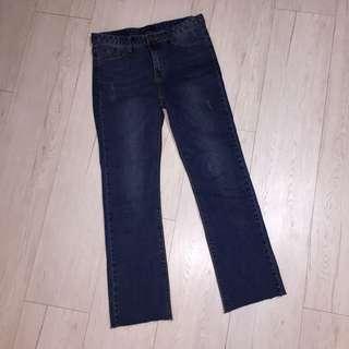 🚚 韓國 小喇叭 彈性牛仔褲
