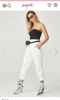 Jordan combat pants in white