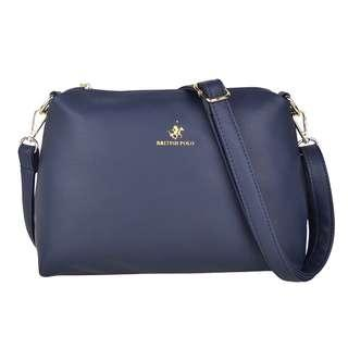 British Polo Women PU Sling Bag