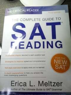 The Critical Reader: The Complete Guide to SAT Reading (Third Edition) [ by Erica L. Meltzer ]