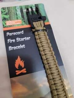 Paracord Fire Starter Survival Bracelet