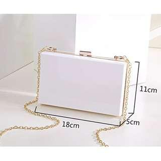 White Acrylic Sling Bag
