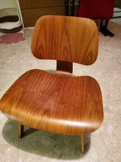 Authentic Eames LCW from Herman Miller. Has defects.