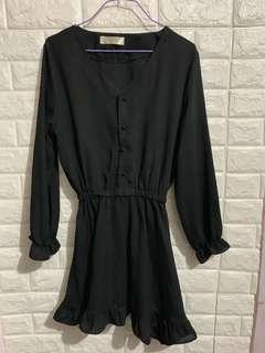 👗黑色斯文裙 dress