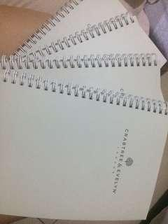 Crabtree and Evelyn Notebook
