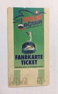 94年Titlis Rotair Fahrkarte Ticket