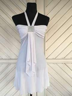 IMPORTED WHite Party Dress