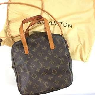 Authentic Louis Vuitton Shoulder Bag Two way style vintage monogram LV Not Celine Gucci