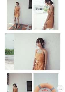 🚚 全新s號方領背心短洋裝