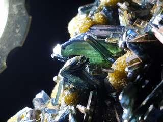 🤩🤩 Rare Beautiful Blue, Green Vivianite On Matrix with Golden Pyrite from Bolivia