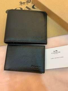 Authentic coach men wallet purse 74993 74991
