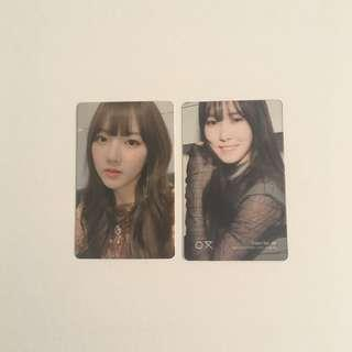 [wts] gfriend yerin yuju time for us photocards