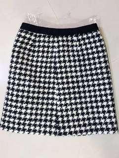 🚚 日本品牌tomorrowland純羊毛千鳥紋裙 毛料短裙