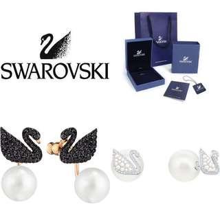 Swarovski iconic swan earrings