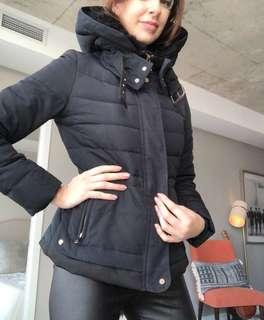 Zara Puffer in Navy size M