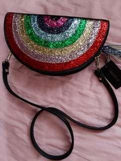 🆕️ Forever 21 rainbow glitter handbag