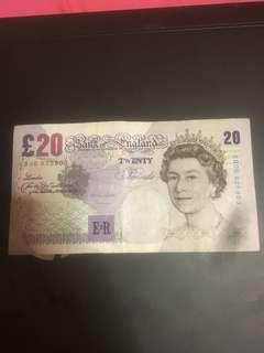 England 20 pounds Banknote