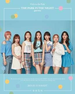 [PREORDER] GWSN THE PARK IN THE NIGHT PART TWO OFFICIAL GOODS