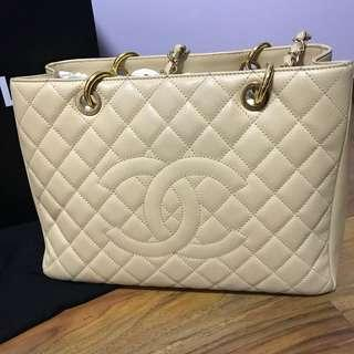 Chanel GST in Beige Caviar and GHW