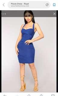 Fashion Nova Pisces Dress (Royal)
