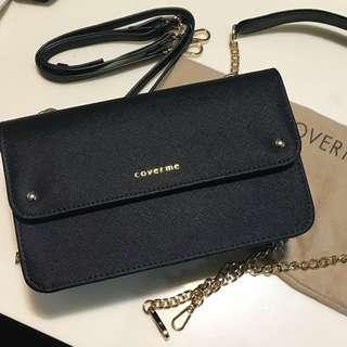 👜(New) Coverme Black Bag Wallet 黑色多格袋 銀包