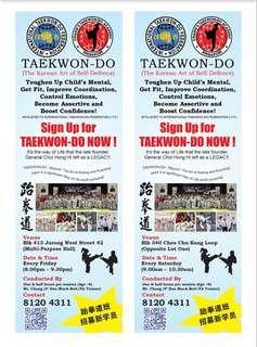 🚚 Taekwondo Class @ Choa Chu Kang