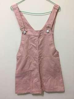 粉紅吊帶裙