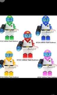 🚚 Team Voltron Minifigures