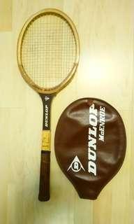 懷舊Dunlop木網球拍連套(麥根萊代言)