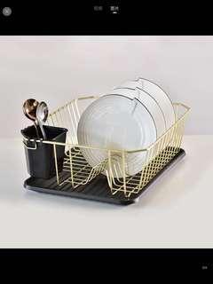 Dish Rack | Dish Dryer | Gold Colour