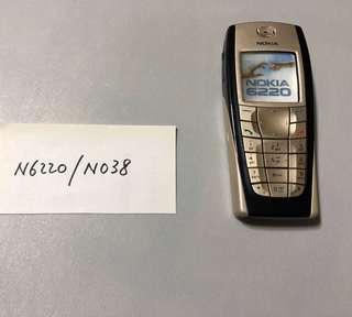 Nokia N6220 - N038 Dummy Phone  原廠手機模型 經典手機型號  電影電視道具,陳列,珍藏紀念, 回憶那些年我們用過的手機