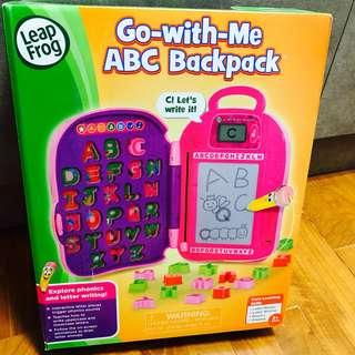 🚚 ~Ready Stocked~ LeapFrog Go-with-Me ABC Backpack bag, Pink - erase board, doodle, mr pencil