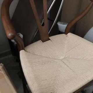 Wishbone bar stool